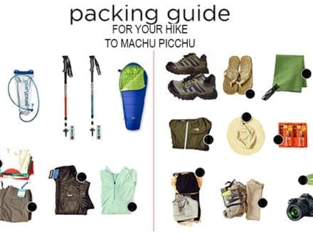 Packing List Machu Picchu